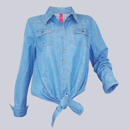 Flottes Sheego Jeans Hemd, Gr. 52/54