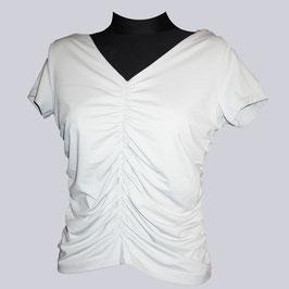 Wunderschönes, gerafftes Stretch-Shirt, Gr. 44, grau