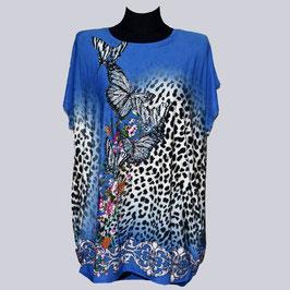 Elastische Tunika/Shirt Papillon, blau