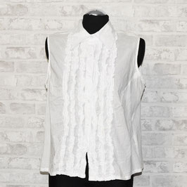 Sehr leichte, weiße Vintage Bluse, Gr. 48