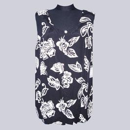 Shirt-Bluse Blättchen, Gr. 48, XL
