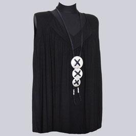 Viscose/Elasthan Shirt Anna, Gr. 54, schwarz
