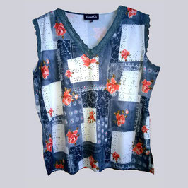 Shirt in Patchwork-Optik