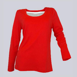 2 in 1 Sheego Shirt, rot/mehrf.