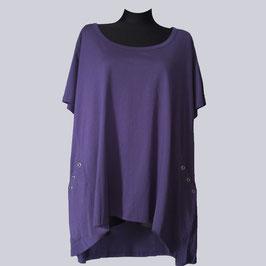 Sheego Long-Shirt, Gr. 56/58, lila