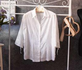 Feine, weiße Bluse Candice, Gr. XL (48/50)