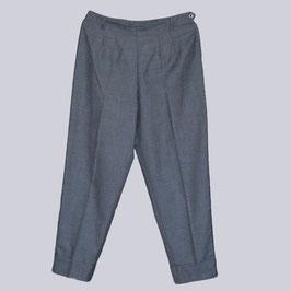 Hose aus Schurwolle, Gr. 44, grau meliert