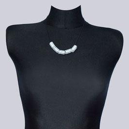 Samt-Halskette Jea schwarz/silberfarben