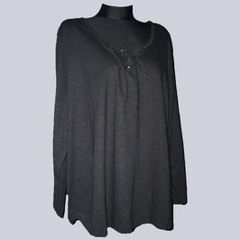 Sheego Bändchen Shirt, Gr. 56/58, schwarz