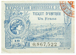 Ticket World's Fair Paris 1900