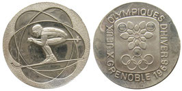 Grenoble 1968 Commemorative Silver Medal