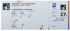 Ticket , Closing Ceremony