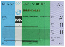Honorary Ticket, Rowing