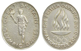 Manchester 2000 Medal commemorating the Bid for the Olympic Games 2000