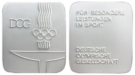 Germany Silverplaque awarded by the German Olympic Society