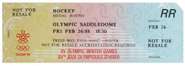 Full Press Ticket, Hockey, Medal Round