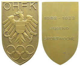 Austria 1933 Plaque of the austrian Sports-Association commemorating the Youth-SportsweekProduktname