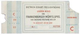 Ticket, ''The Frankenburg Game of Dice''