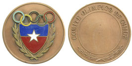 Bronzemedal awarded by the Olympic Committee of Chile