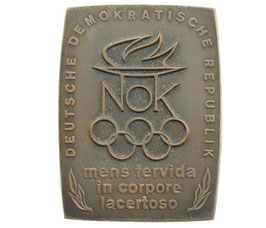 German Democratic Republic Bronzeplaque commemorating the NOC