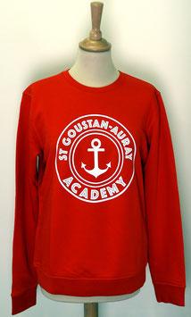 Sweat-shirt Homme/Femme Academy rouge