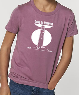 T-shirt Garçon Phare mauve