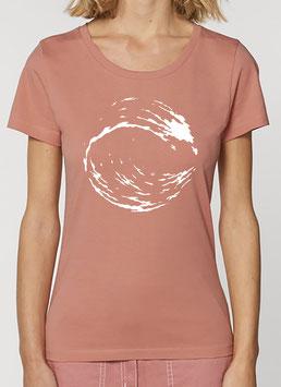 T-shirt Femme Vague pêche