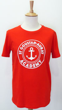 T-shirt Homme Academy rouge