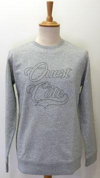 Sweat-shirt Homme/Femme Ouest Côte gris chiné