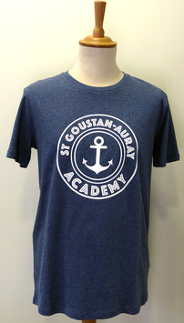 T-shirt Homme Academy bleu gris chiné