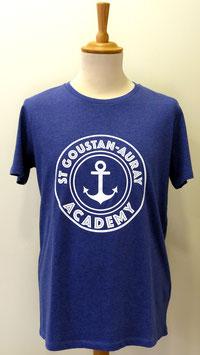 T-shirt Homme Academy bleu indigo chiné