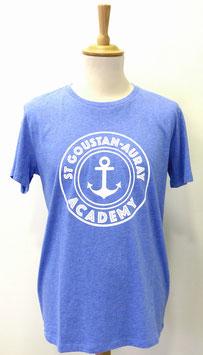T-shirt Homme Academy bleu clair chiné