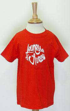 T-shirt Garçon Jeunesse d'Auray rouge