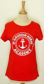 T-shirt Femme Academy rouge