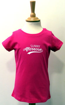 T-shirt Fille Sunny Afternoon rose