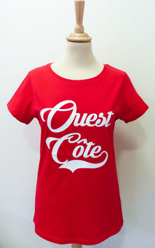 T-shirt Femme Ouest Côte rouge