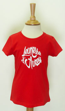 T-shirt Fille Jeunesse d'Auray rouge
