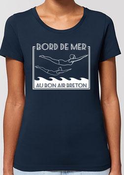 T-shirt Femme Plongeurs bleu marine