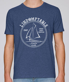 T-shirt Indomptable bleu indigo