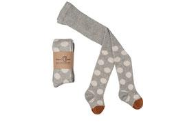 Mamas Feet | Strumpfhose dots | hellgrau/ weiß
