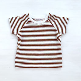 Basic T-Shirt Stripes | Cinnamon