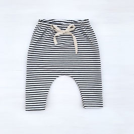 Simple Stripes Slim Harem | Schwarz