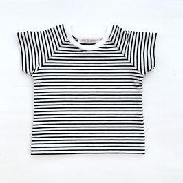 Basic T-Shirt Stripes | Schwarz
