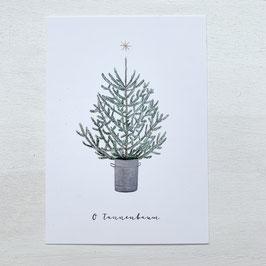 Eulenschnitt | Postkarte | Tanne
