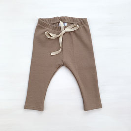 Simple Rib Leggings | Almond