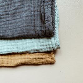 Haps Nordic |  3er Set Musselintuch | cold colors |