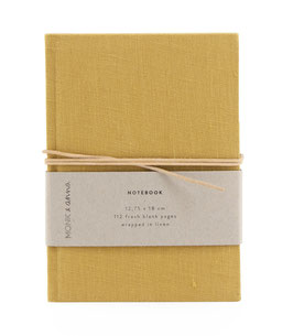 Monk & Anna // Notizbuch S | natural linen | fudge
