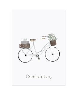 Eulenschnitt | Postkarte | Christmas delivery