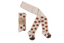 Mamas Feet | Strumpfhose dots | creme/ karamel
