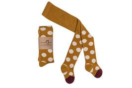 Mamas Feet | Strumpfhose dots | senfgelb/creme